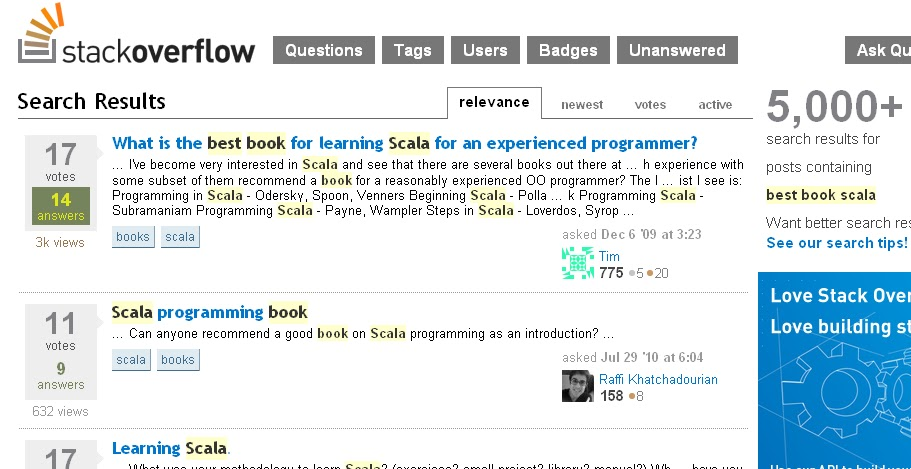 StackOverflow book discussion